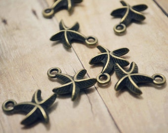 Little Starfish Charm 12pcs R26721-O04