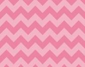 Riley Blake Chevron - Hot pink - Tone on tone - Medium - Farbic - BTY
