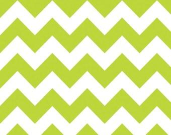 Riley Blake Chevron - Lime - Medium - 1 yard Cotton Fabric