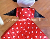ribbon sculpture disney characters clips or headband (price is for 3)