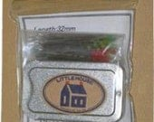 SALE Little House Glass Head Pins in Tin-  100 pins