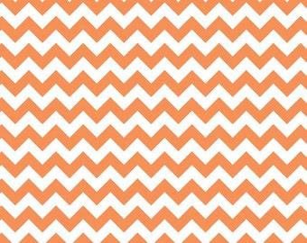 Riley Blake Orange Small Chevron- 1/2yard