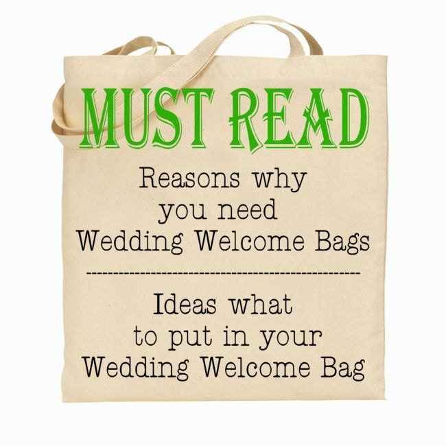 Why You Should Have Wedding Welcome Tote Bags At Your Wedding