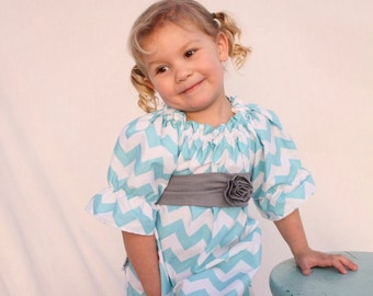 baby Girl dress,  chevron easter dress, Chevron girls dress