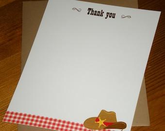 Cowboy : thank you notes - Set of 12