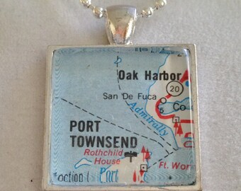 City Maps WA Necklace