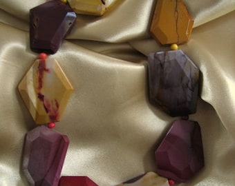 AUSTRALIAN MOOKAITE Natural Stone Necklace Original Multi Coloured