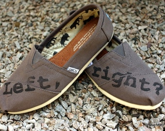 Left Right Custom TOMS Shoes