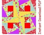 Gipsy pinwheel quilt block hot price paper piecing INSTANT DOWNLOAD PDF