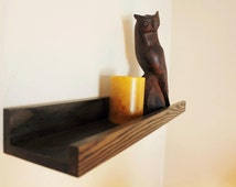 Painted or Stained Wood Ledge Shelf - Three Foot Length
