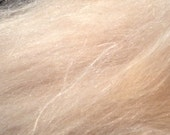 Baby Camel Silk 2oz Fiber Biege Luxury Spinning Fiber 50/50 Blend.