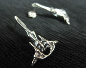 """Sterling Silver Long Post Earring - """"Monika"""""""