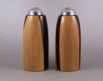 Salt and Pepper Shakers - Handmade Ziricote with chrome caps