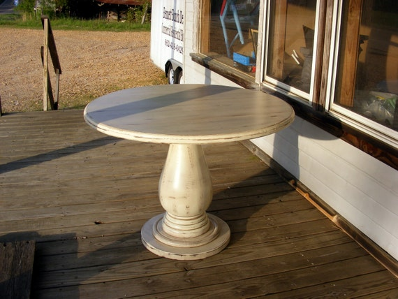 42 Inch Round Pedestal Table Huge Solid Wood By Thewoodworkman