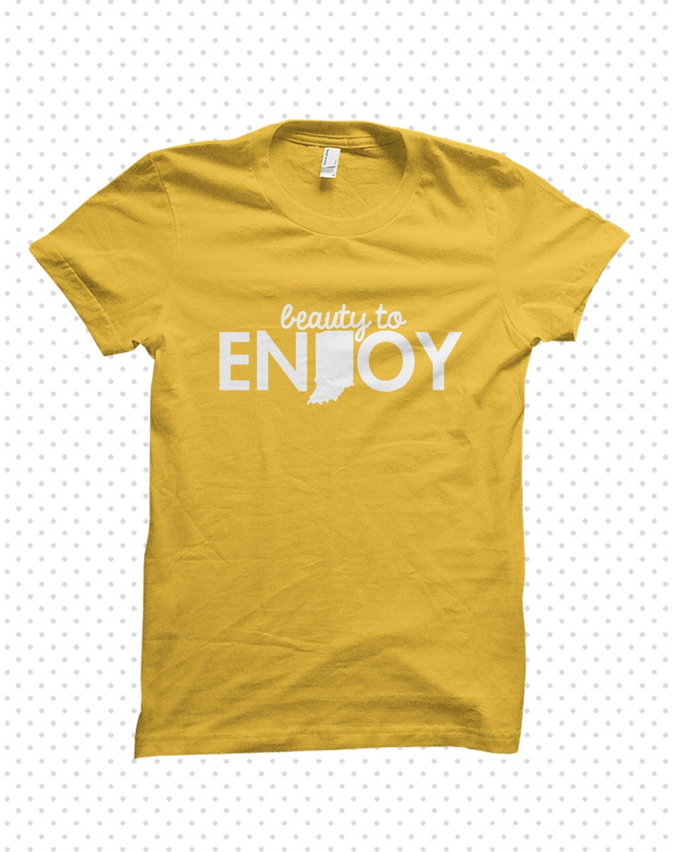 Enjoy indiana made to order tshirt by threadandgrain on etsy for Made to order shirts online
