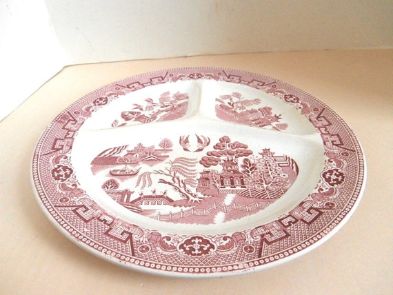 Holland 3 Section Willow Plate Circa Early 1900s