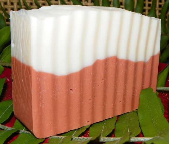 Orange Peach Cold Process Homemade Vegan Soap w/ Shea Butter
