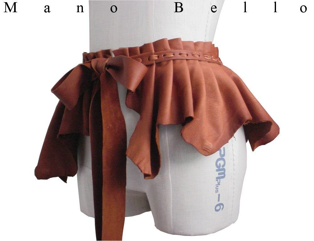 Leather Bustle Skirt Bustle Belt Rustic overskirt
