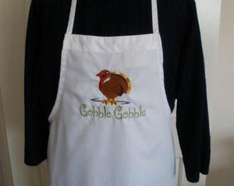 Thanksgiving Gobble Gobble Turkey Bib Apron