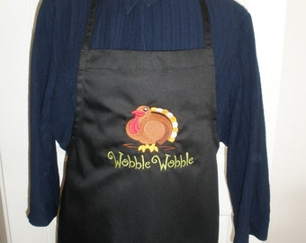Thanksgiving Wobble Wobble Turkey Bib Apron