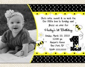 Bumble Bee Birthday Invitations