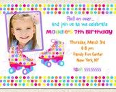 Roller Skate Birthday Invitations