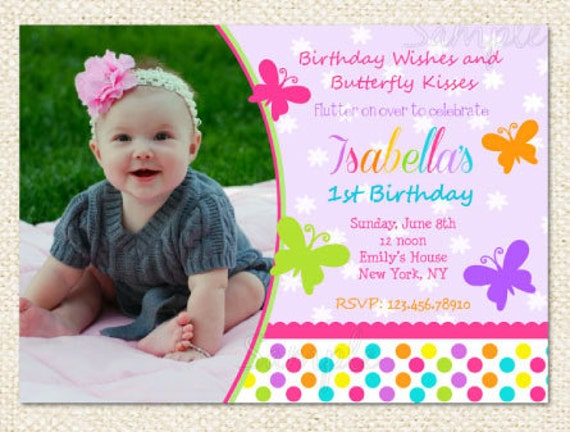 Butterfly Birthday Invitations – Butterfly Invitations Birthday