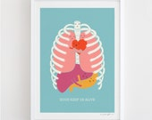 Hugs Keep Us Alive - Art Print