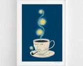 Starry Starry Coffee - art print