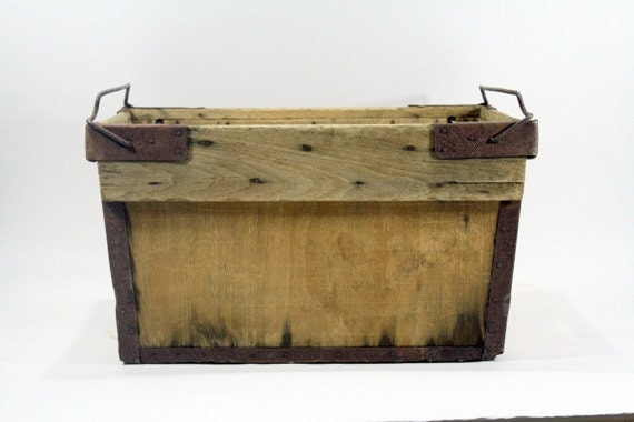 vintage wood banana crate wood crate by huntandfound