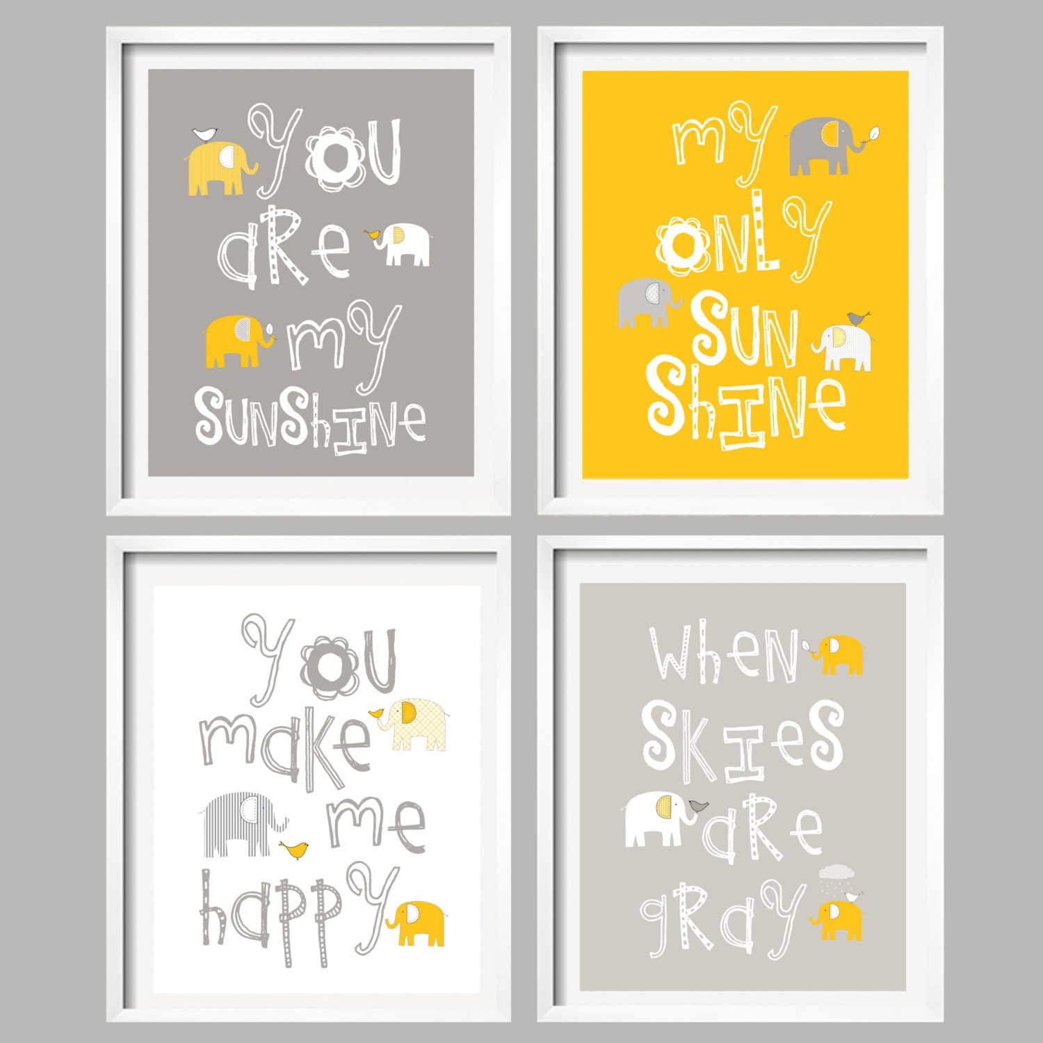 You Are My Sunshine Wall Art you are my sunshine kids wall art mustard yellow and gray