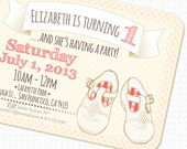 Mary Jane Vintage Shoes PRINTABLE Birthday Invitation