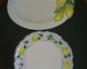Lemon Dessert Plates Made in Italy 9 In all