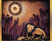 The Lion and the Mouse -  Print on Wood Block -