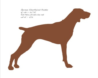 """German Shorthaired Pointer metal wall art - 30"""" wide - dog silhouette rusted steel - wall hanging"""