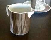 vintage mid century coffee set 10 piece porcelain thomas rosenthal striped pattern