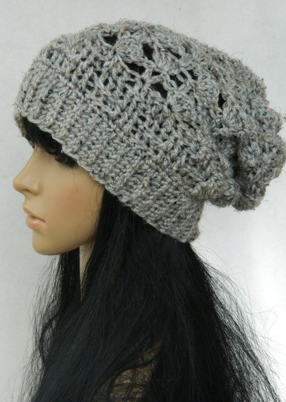 Slouchy Beanie Winter  Style Beret tams Snood Beanie  Headwarmers  Adults Women Teens In Grey