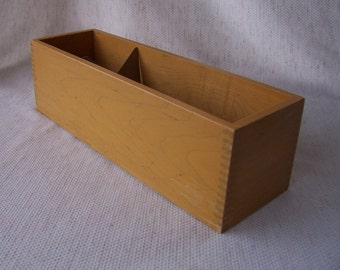 Vintage wooden library book card box. Single. Gaylord Brothers, Inc. D.