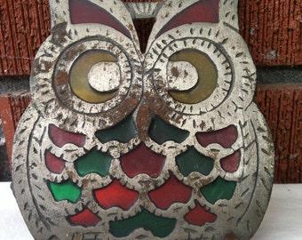 Vintage Owl Trivet or Pot Holder