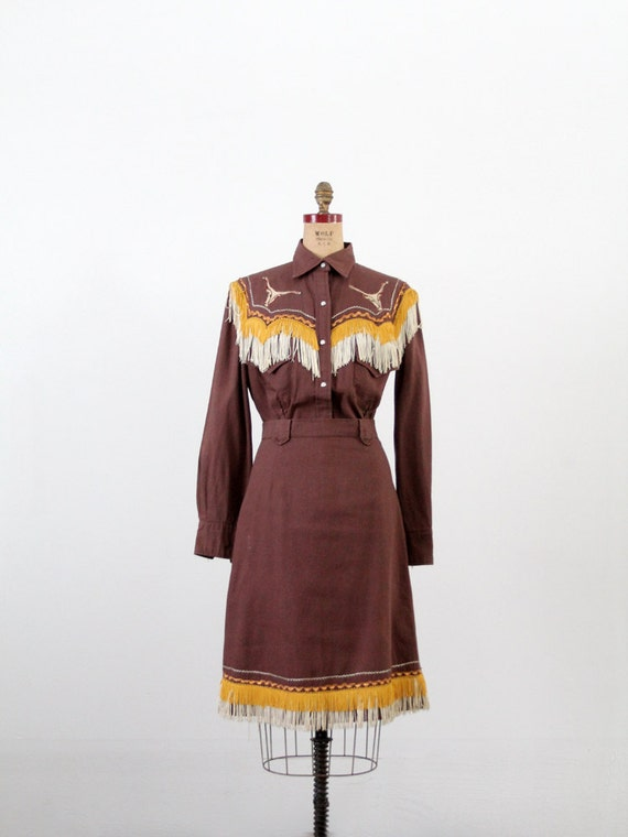 On Reserve Vintage Western Skirt And Top 1950s Rodeo Outfit