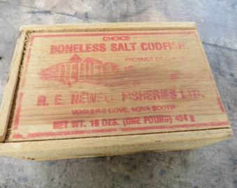 Vintage Advertising Salt Codfish Box.