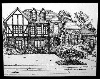 Pen and Ink sketch of your home