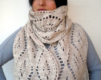 Linem Color Weavw Scarf Hand Crocheted Scarf Woman  Fall Fashion  Scarf NEW