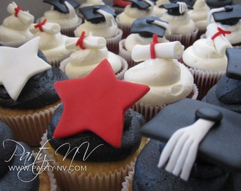 EDIBLE (Fondant Toppers) - Graduation