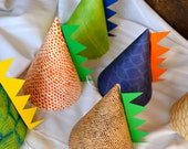 Dino Party Hat with spikes and age