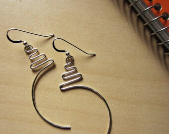 "Zig Zag ""Seahorse"" Earrings"
