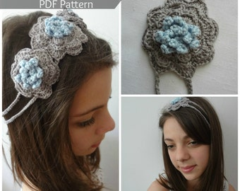 PDF Crochet Pattern -Crocheted Flower Headband - crocheted headpiece - instant download - sell what you make