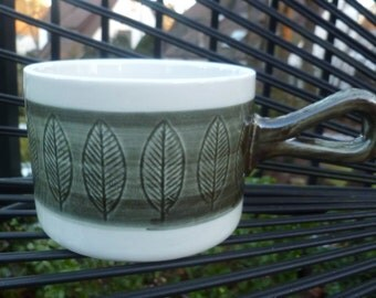 Rörstrand KOKA Cup. Green Gray. Casserole. Vintage 1950s/1960s. Made in Sweden. Scarce Color. Mid Century Modern.