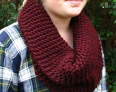 Short Knit Single Wrap Simple Chunky Cowl Warm Autumn Winter Layers One Size Fits All