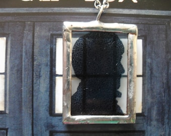 The Second Doctor Silhouette Necklace
